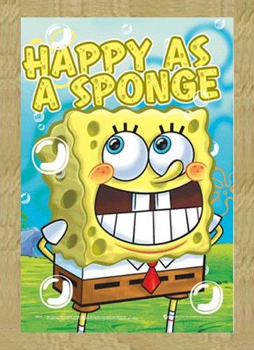 Spongebob 3d poster a3felicità + accessori cadre en mdf effet chêne