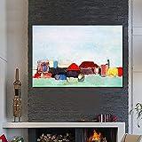 Pittura Ad Olio Dipinti A Mano Su Tela,100% Dipinte A Mano Dimensioni Grandi Abstract Casa Colorati Paesaggi Arte Quadri Ad Olio A Parete Dipinti Di Arte Grafica Per Un Cafe Salone Home Decor N. Telai