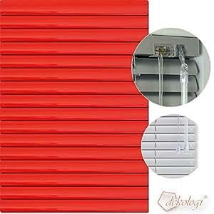 Jalousie store vénitien en aluminium 55 x 100 cm (largeur x hauteur)-rouge carmin lamellenfarbe 1307/personnalisation store plissé en aluminium stores vénitiens