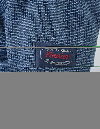PIONIER WORKWEAR Herren Wirkflor Troyer Winter in anthrazit (Art.-Nr. 2719) Jeansblau