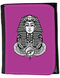 Small Faux Leather Wallet // Q10040621 winged ankh 2 Byzantine // Small Size Wallet