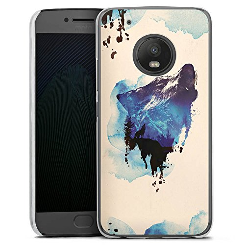 DeinDesign Motorola Moto G5 Plus Hülle Case Handyhülle Wolf Illustration Graphic