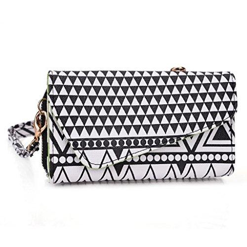 Kroo Pochette/étui style tribal urbain pour Yezz ANDY 3.5e2i Multicolore - White with Mint Blue Multicolore - Noir/blanc