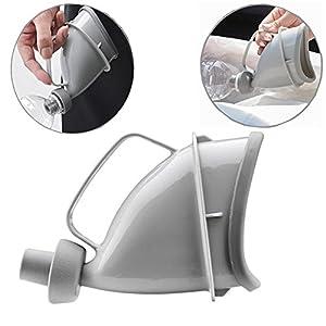 YUMSUM Weibliche Frauen Urinale Pissoir,wiederverwendbare tragbare Urinal Trichter Reise WC Pip Flasche für Outdoor Camping Notfall sitzen oder stehen