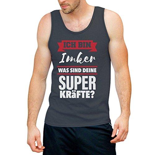 Geschenke für Imker - Ich bin IMKER Was sind deine Superkräfte? Tank Top Dunkelgrau