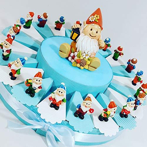 Bomboniere nascita battesimo bambina/o appoggio, portachiavi, magnete selezionando la scelta offerta on line kkk (torta bomboniera gnomi)