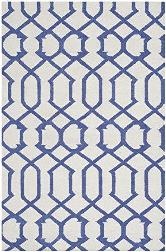 Safavieh Margo Handgewebtes Flachgewebe Teppich, Wolle, Elfenbein / Lila, 121 x 182 cm (Safavieh-teppiche Lila)