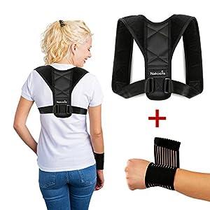 NAKOSITE POST2433 Rückengurt Geradehalter zur haltungskorrektur Damen und Herren für Rücken, Posture corrector women and men. Rücken, Schulter und Nacken Schmerzlinderung. Handgelenk-Stützgurt