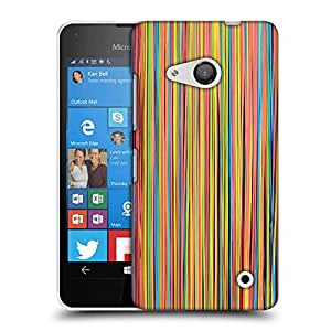 Snoogg Colorful Strips Designer Protective Phone Back Case Cover For Nokia Lumia 550
