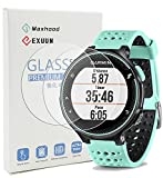 Maxhood (Pack de 2) Garmin Forerunner 235 225 630 620 230 220 Protection d'écran en verre trempé, véritable 0,26 mm 2.5D round edge Premium Film de Protection d'écran en verre trempé