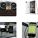 """soporte para coche y para mesa etc. para HTC Desire 820, negro """"araña"""". montaje de la salida aire, espejo retrovisor, bicicletas, etc. Trípode - K-S-Trade (TM)"""