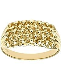 Revoni - 9ct Yellow Gold Ladies Keeper Ring
