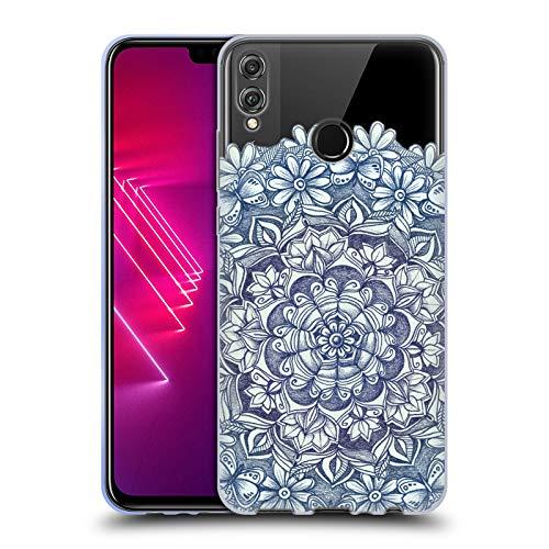 Head Case Designs Offizielle Micklyn Le Feuvre Indigo Schmetterling Medallion Mandala 5 Soft Gel Huelle kompatibel mit Huawei Honor 8X / View 10 Lite - 8 X 10-medallion