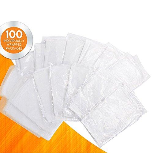UNKE Einweg-Schürzen, Kunststoff, wasserdicht, zum Kochen, Servieren, Malen und Geschirrspülen, 100 Stück - Kunststoff-einweg-schürze