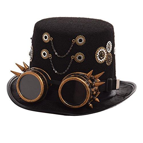 GRACEART Viktorianisch Steampunk Oben Hut (Herren)