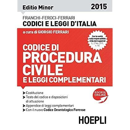 Codice Di Procedura Civile 2015. Ediz. Minore