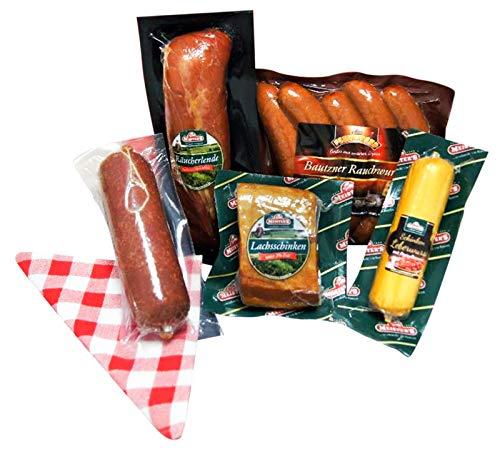Wurstpaket Geschenk | Schinken Salami Set | Lende geräuchert Leberwurst Preiselbeeren | BBQ Rauchwurst Schlemmer Box