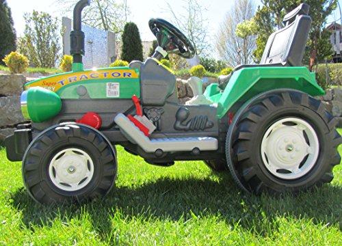 *Super Traktor mit 2 Motoren je 12V Traktor Fahrzeug*