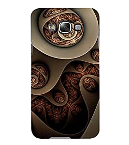 Printvisa Ethnic Assorted Jewels Pic 3D Hard Polycarbonate Designer Back Case Cover For Samsung Galaxy E7 :: Samsung Galaxy E7 E700F (2015) (Brown)