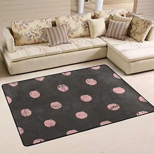 JSTEL - Alfombra Lavable con Lunares Suaves, 90 x 60 cm, cómoda Alfombra para salón o Dormitorio, 180 x 120 cm