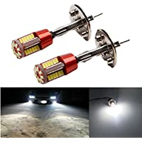 FEZZ LED Bombillas de Coche Auto LED H1 3014 57SMD Lamparas Iluminación Para faros antiniebla DRL 6000K Blanco (Paquete de 2)