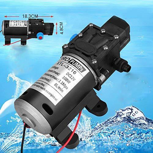 12V 100W 8L/Min Pumpe Hochdruckpumpe Membranpumpe Automatisch Wasserpumpe -