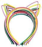 10 pcs Bandeau d'Oreille de Chat Serre-Tête pour Fête ou Décoration Quotidienne, Couleurs Assorties, 10 Pièces
