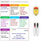 Magnetic Weekly Planner White Board - Weekly Planner Pad Big Whiteboard - Useful Magnetic Calendar Fridge Whiteboard - Kitchen Memo Board 30x40 cm - Bonus: 2 Dry Erase Pens & a Magnetic Eraser