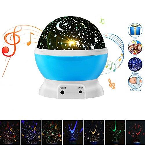 Elecstars LED Sternenhimmel Projektor Lampe mit Fernbedienung 360 Grad Drehbare Romantische Baby Projektor Nachtlicht mit 4 LED Korne für Geburtstag, Parteien, Kinder Zimmer, Weihnachten(Blau)
