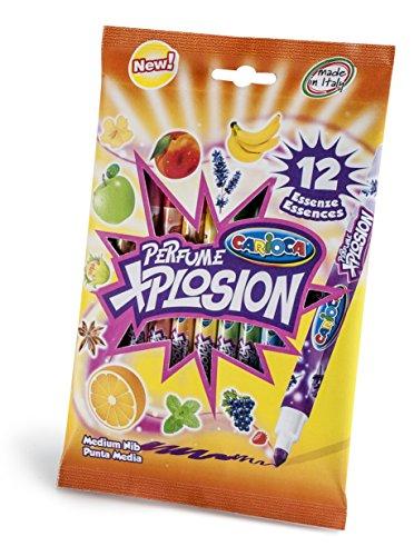 Carioca Perfume Xplosion - Rotuladores aromáticos, 12 unidades, vario