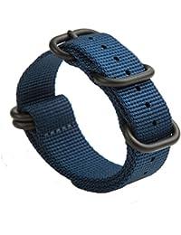 Gemony NATO Strap 5 Anillos ZULÚ PVD venda de reloj de 20mm/22mm de relojes intercambiables banda para reloj de buzo