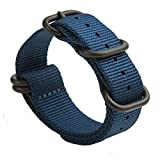 Gemony NATO Armband 5-Edelstahl-Ringe Premium-Ballistic Nylon Zulu Diver-Uhrenarmband 20mm/22mm, WB-013F22