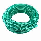 Saugschlauch Spiralschlauch Förderschlauch Pumpenschlauch grün 50 Meter Rolle 19mm