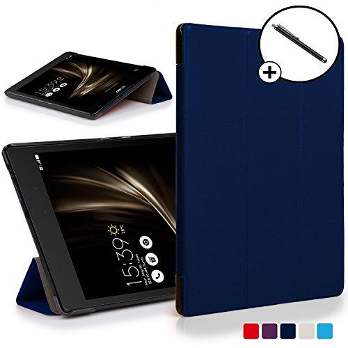 Forefront Cases ASUS ZenPad 3 8.0 ZT581KL Hülle Schutzhülle Tasche Smart Case Cover Stand - Ultra Dünn Leicht Rundum-Geräteschutz - Smart Auto Schlaf Wach + Stift (DUNKEL BLAU)