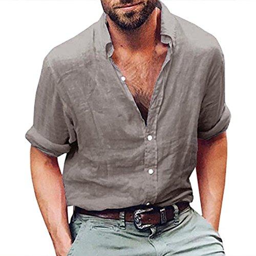 T-shirt da uomo _ feixiang moda casuale maniche corta girocollo t shirt stampa digitale camicetta maglietta da uomo camicie da uomini tees manica lunga tops maniche corte polo (grigio c-lungo, xl)