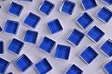 220 Stück Glas Mosaiksteine (Soft-Glas) 1x1cm dunkelblau ca. 180g
