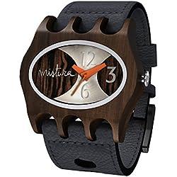 Mistura, Handcrafted Kamera Natural Pui Analogue Concept Wristwatch, Japanese Quartz Movement, Ebony