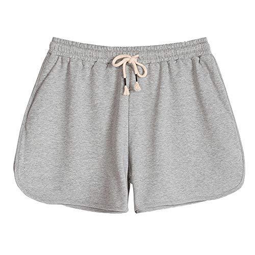 SXSHUN Mujer Pantalones Cortos Estar Casa Shorts Cordón