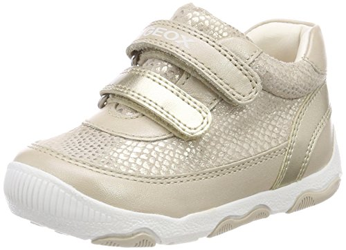 Geox Baby Mädchen B New Balu' Girl C Sneaker, Beige (Beige/Gold), 22 EU