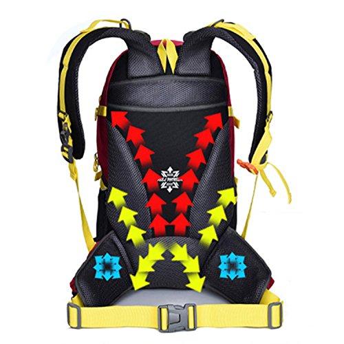BYD - 45L Unisex Rucksäcke Im Freien Wandern Klettern Freizeit Trekkingrucksäcke Outdoor Taschen Radfahren Reiten Reisetaschen wasserdicht Backpack Schwarz