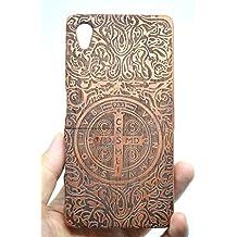 Holzsammlung® Sony Xperia Z5 Premium Funda de Madera - Palo de Rosa Cruz - Natural Hecha a mano de Bambú / Madera Carcasa Case Cover