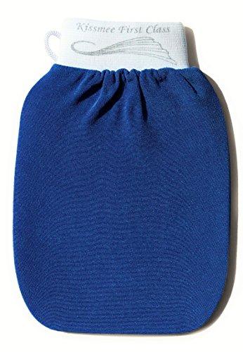 KISSMEE First Class Peelinghandschuh, Farbe Ozeanblau, Größe Normal