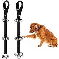 Miluck perro Toilette Formación timbre ajustable Cachorro doorbells con campanas fuerte para House Training para I de perros pequeños, medianos y grandes,a set of 2Pcs