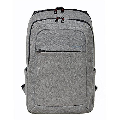 Slotra 15.6 pollici Slim Affari Laptop Zaini viaggio zaino Daypack con resistente allo strappo Borse Design Viaggi Macbook computer a Gray