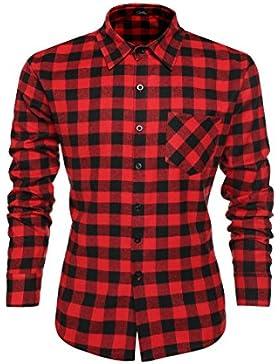 Coofandy Camicie Casual Uomo Maniche Lunghe Cotone Shirt Dimensione S-3XL