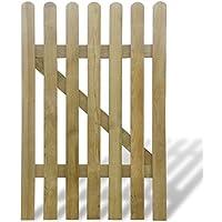 vidaXL Puerta de madera para jardín, 100 x 150 cm