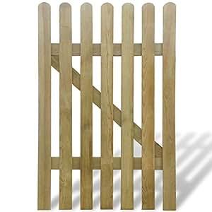 Vidaxl cancello di legno per giardino 100 x 150 cm amazon for Cancelli di legno per giardino