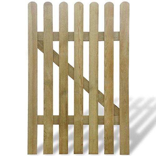 Vidaxl cancello di legno per giardino 100 x 150 cm