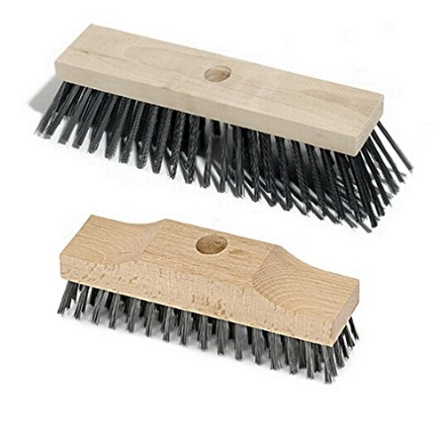 BawiTec Balai métallique + fil d'acier Balai-brosse en kit fil d'acier Balai-brosse Balai à manche trou de 6 rangées