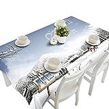sunnymi Tischtuch Weihnachten 150*70CM,Party Picknick Schreibtisch Dekor Frohe Weihnachten Rectangular Bedruckte Stoff Tischdecke Christmas tablecloth (150*70CM, E)